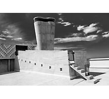 On the roof of Le Corbusier's Unité d'Habitation in Marseille - 1 Photographic Print