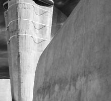 On the roof of Le Corbusier's Unité d'Habitation in Marseille - 3 by eyeshoot