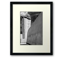 On the roof of Le Corbusier's Unité d'Habitation in Marseille - 3 Framed Print