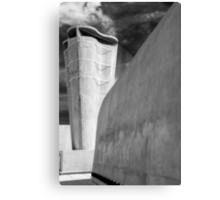 On the roof of Le Corbusier's Unité d'Habitation in Marseille - 3 Canvas Print
