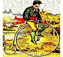Big Bike Crackle Photographic Print
