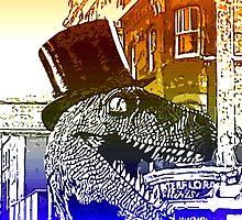 T-Rex in a top hat by Rob Cox