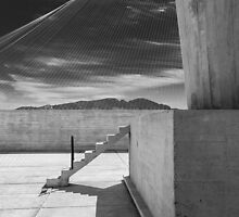 On the roof of Le Corbusier's Unité d'Habitation in Marseille - 4 by eyeshoot