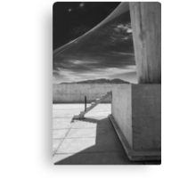 On the roof of Le Corbusier's Unité d'Habitation in Marseille - 4 Canvas Print