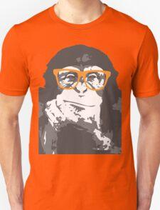Hipster Monkey Unisex T-Shirt