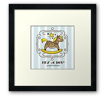 Its a boy Framed Print