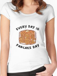 Every Day Is Pancake Day Women's Fitted Scoop T-Shirt