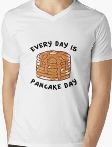 Every Day Is Pancake Day Mens V-Neck T-Shirt