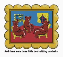 Goodnight Moon Three Little Bears Sitting on Chairs by neoPOPart
