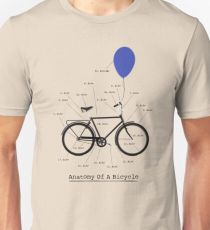 Anatomy Of A Bicycle Unisex T-Shirt