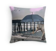 SKATING ON THE SEA Throw Pillow
