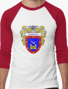 Sepulveda Coat of Arms/Family Crest Men's Baseball ¾ T-Shirt