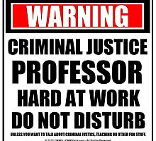 Warning Criminal Justice Professor Hard At Work Do Not Disturb by cmmei