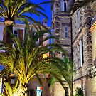 Village of Le Lavandou at night,  cote azur, var, provence, France by 7horses