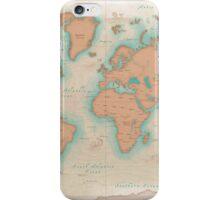Vintage Style World Map iPhone Case/Skin