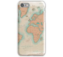Vintage Style World Map iPhone Case/Skin