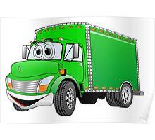 Box Truck Green Cartoon Poster