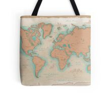 Vintage Style World Map Tote Bag