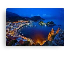 Parga nights Canvas Print