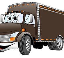Box Truck Chocolate Cartoon by Graphxpro