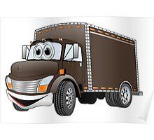 Box Truck Chocolate Cartoon Poster
