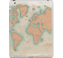 Vintage Style World Map iPad Case/Skin