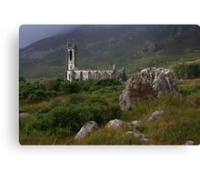 Dunlewey Church On Overcast Day Canvas Print
