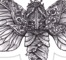 Steampunk Moth Sticker