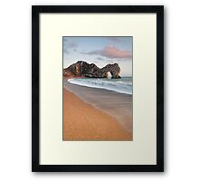 Durdle Door Breakers Framed Print