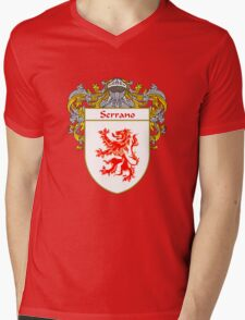 Serrano Coat of Arms/Family Crest Mens V-Neck T-Shirt