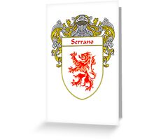 Serrano Coat of Arms/Family Crest Greeting Card