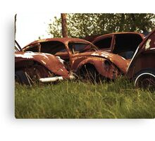 Automobile Graveyard No 3 Canvas Print