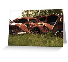Automobile Graveyard No 3 Greeting Card