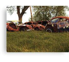 Automobile Graveyard No 4 Canvas Print