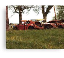 Automobile Graveyard No 5 Canvas Print
