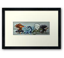 Elemental Dragon Line Up Framed Print