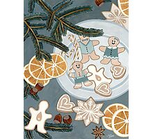 Gingerbread Man Cookies Photographic Print