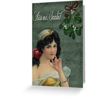 Kiss Me, Santa! Greeting Card