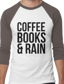 COFFEE BOOKS & RAIN Men's Baseball ¾ T-Shirt
