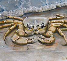 Ghost Crab In The Surf by Phyllis Beiser