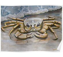 Ghost Crab In The Surf Poster