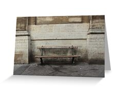 City bench Greeting Card