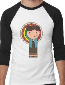 Kaylee Kokeshi Doll  Men's Baseball ¾ T-Shirt