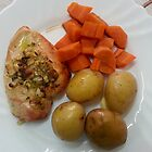 Roast Chicken Breast In Rosemary And Garlic by Michael Redbourn
