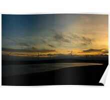 Lough Lee Sunset Poster