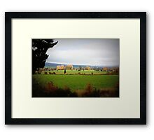 Farmlands From the Lyell Hwy Tasmania Framed Print