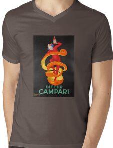 Campari Orange Mens V-Neck T-Shirt