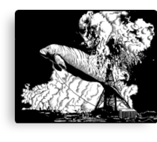 Oh the Huge Manatee Print Canvas Print
