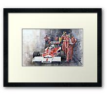 James Hunt Monaco GP 1977 McLaren M23 Framed Print