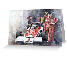 James Hunt Monaco GP 1977 McLaren M23 Greeting Card